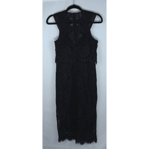 NWT Chelsea navy blue crochet and lace long dress